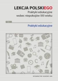 Lekcja polskiego. Praktyki edukacyjne - okładka książki