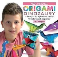 Moje pierwsze origami Dinozaury - okładka książki