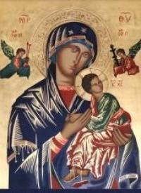Obraz z modlitwą do Matki Bożej - zdjęcie