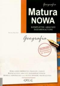 Matura nowa. Geografia. Kompletne arkusze egzaminacyjne - okładka podręcznika