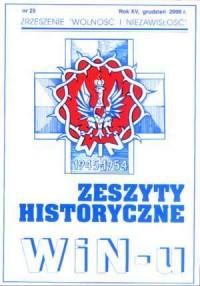 Zeszyty Historyczne Win-u nr 25 (grudzień 2006) - okładka książki