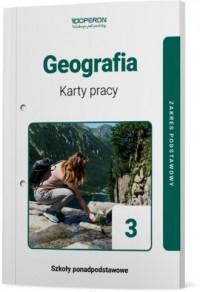 Geografia. LO 3. Karty pracy ucznia. - okładka podręcznika