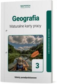 Geografia. LO 3. Maturalne karty - okładka podręcznika