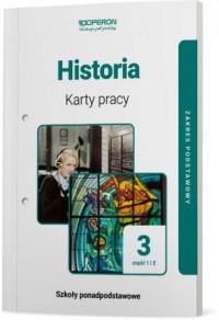 Historia. LO 3. Karty pracy ucznia. - okładka podręcznika