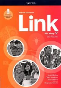 Link 5 Materiały ćwiczeniowe + - okładka podręcznika
