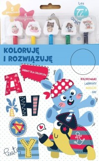 Koloruję i rozwiązuję - okładka książki