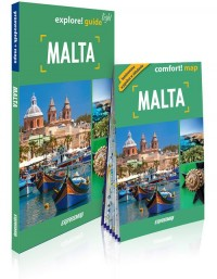 Malta light: przewodnik + mapa - okładka książki