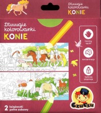 Dłuuugie kolorowanki Konie - okładka książki