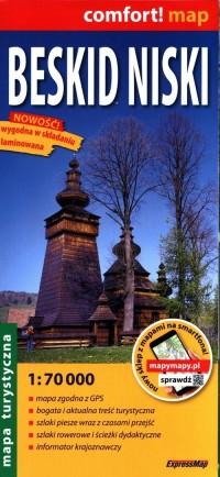 Mapa turystyczna - Beskid Niski - okładka książki