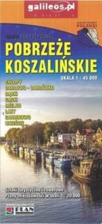 Pobrzeże koszalińskie - Mapa turystyczna - okładka książki