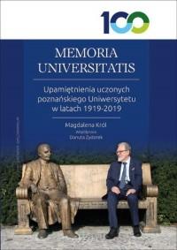 MEMORIA UNIVERSITATIS. Upamiętnienia - okładka książki