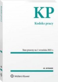 Kodeks pracy Przepisy - okładka książki