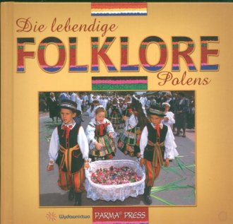 Polski folklor żywy (wersja niem.) - okładka książki