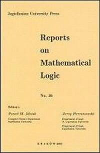 Reports on Mathematical Logic No 36 - okładka książki