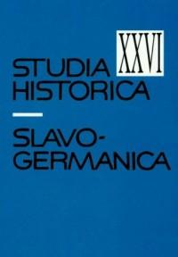 Studia historica slavo-germanica XXVI - okładka książki