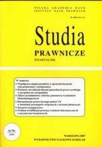 Studia prawnicze nr 42006 - Andrzej Bierć - okładka książki