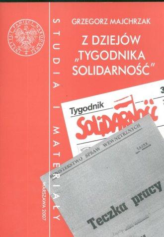 Z dziejów Tygodnika Solidarność. - okładka książki