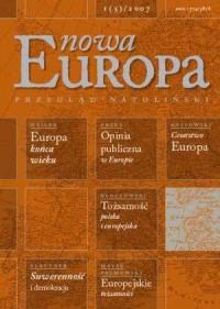 Nowa Europa 1(5) 2007 - Wydawnictwo Ośrodek Myśli Politycznej - okładka książki
