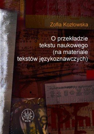 O przekładzie tekstu naukowego - okładka książki