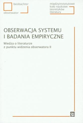 Obserwacja systemu i badania empiryczne. - okładka książki