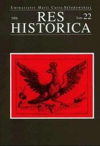 Res Historica. Tom 22 (2006) - okładka książki