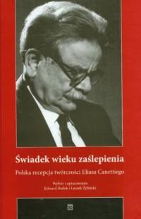 Świadek wieku zaślepienia. Polska - okładka książki