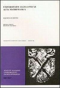 Universitatis Jagiellonicae Acta Mathematica. Zeszyt 38 - okładka książki