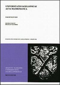 Universitatis Jagiellonicae Acta Mathematica. Zeszyt 42 - okładka książki