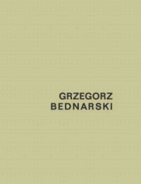 Grzegorz Bednarski - okładka książki