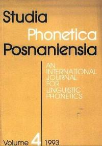 Studia Phonetica Posnaniensia - okładka książki
