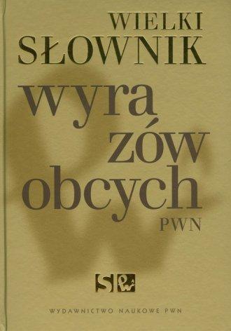 Wielki słownik wyrazów obcych PWN - okładka książki