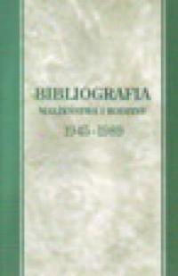 Bibliografia małżeństwa i rodziny 1945-1989 - okładka książki