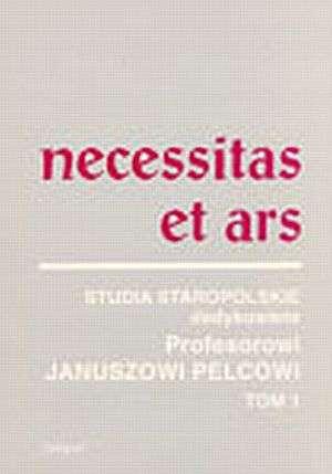Necessitas et Ars. Tom 1 - okładka książki