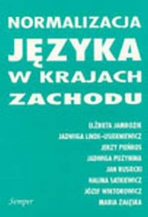 Normalizacja języka w krajach Zachodu - okładka książki