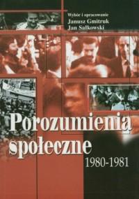 Porozumienia społeczne 1980-1981 - okładka książki