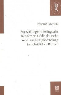Auswirkungen interlingualer Interferenz - okładka książki