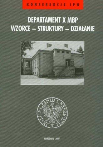 Departament X MBP. Wzorce - struktury - okładka książki