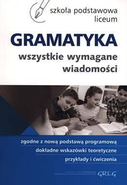 Gramatyka w szkole podstawowej - okładka podręcznika