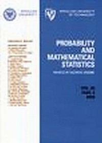Probability and Mathematical Statistics 26.2 - okładka książki
