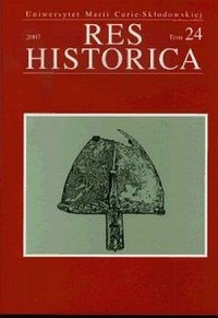 Res Historica. Tom 24 (2007) - okładka książki