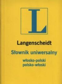 Słownik uniwersalny włosko-polski, - okładka książki