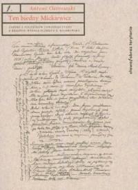 Ten biedny Mickiewicz - okładka książki