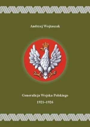 Generalicja Wojska Polskiego 1921-1926 - okładka książki