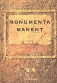 Monumenta manent - okładka książki