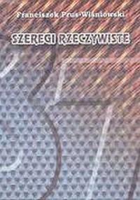 Szeregi rzeczywiste - okładka książki