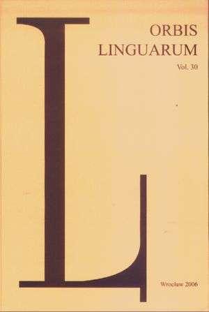 Orbis Linguarum vol. 30(2006) - okładka książki