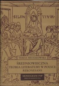 Średniowieczna teoria literatury - okładka książki