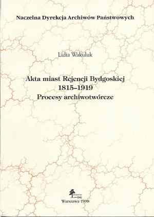 Akta miast Rejencji Bydgoskiej - okładka książki