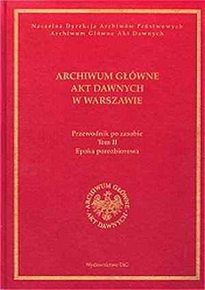 Archiwum Główne Akt Dawnych w Warszawie. - okładka książki