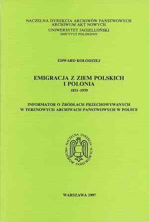 Emigracja z ziem polskich i Polonia - okładka książki